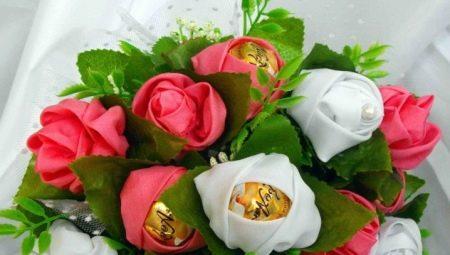 Как выбрать и сделать свадебный букет из конфет?