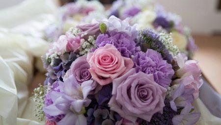 Сиреневый букет цветов невесты фото, букет невесты из ромашек рублей
