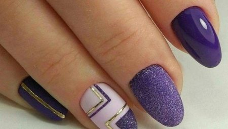 Яркие и нежные идеи сочетания фиолетового с белым в маникюре