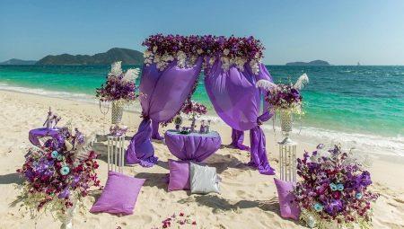 Интересные идеи для оформления свадьбы в сиреневом цвете