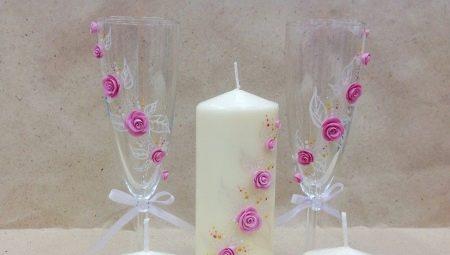 Как своими руками украсить свечи на свадьбу?