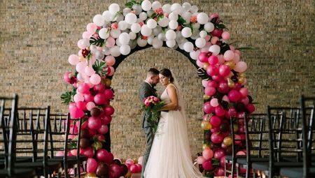 Свадебная арка из воздушных шаров: варианты оформления и способы создания своими руками