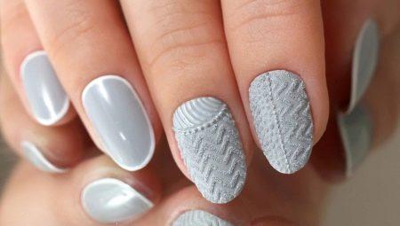 вязаный маникюр 41 фото как сделать дизайн ногтей с эффектом
