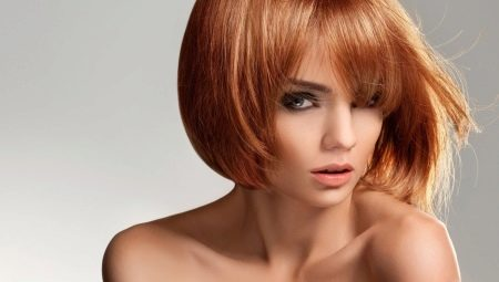 рыжие волосы фото каре