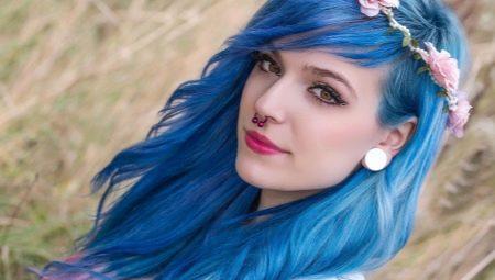 Синие волосы: оттенки и технология окрашивания