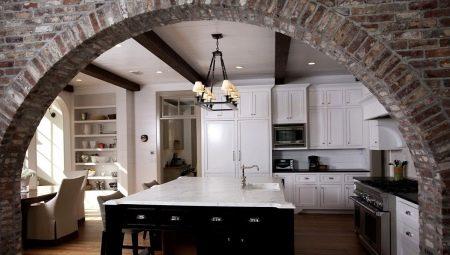 Арки на кухню: разновидности и рекомендации по оформлению