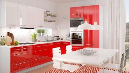 Красно-белая кухня: особенности и варианты дизайна