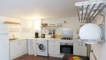 Кухня со стиральной машиной: плюсы и минусы, размещение