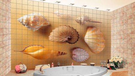 Разнообразие дизайна плитки с рисунками для ванной