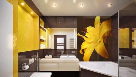 Желтая ванная комната: варианты отделки и примеры дизайна