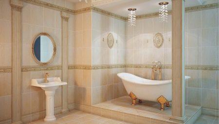 Варианты оформления ванной комнаты в стиле классика