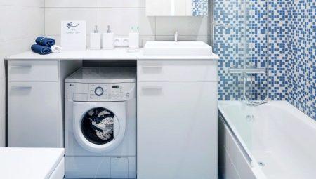 Варианты дизайна маленькой ванной комнаты со стиральной машиной