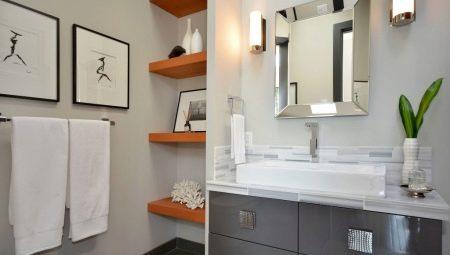 Полки для ванной комнаты: виды, выбор и изготовление своими руками