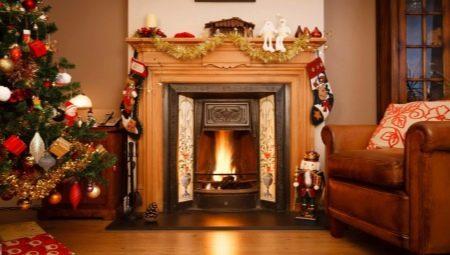 Все о декорировании новогоднего камина