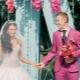Розовое свадебное платье – для романтичных и нежных невест