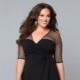 Черное платье для полных женщин