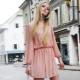 Персиковое платье – для нежного образа
