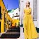 Платье горчичного цвета - для эффектных женщин