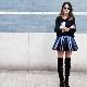 Коническая юбка – игривость в деталях