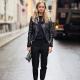 Черная кожаная куртка – популярные модели (75 фото)