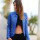Синие и голубые кожаные куртки