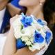 Бело-синий букет невесты: тонкости оформления и выбора