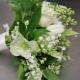 Бело-зеленый букет для невесты: варианты оформления и нюансы выбора