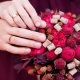 Букет для невесты цвета марсала
