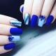 Дизайн ногтей в сине-голубом цвете