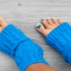 Идеи воплощения педикюра в голубых тонах
