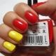 Красно-желтый маникюр: яркие идеи и модные тенденции