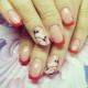 Красный френч на ногтях: выбор оттенка и сочетание красок
