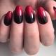 Красный градиент на ногтях – необычные и яркие решения