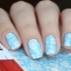 Модные идеи сочетания голубого и белого цветов в маникюре