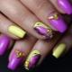 Особенности желто-фиолетового маникюра