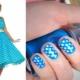 Подбираем маникюр под голубое платье