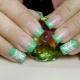 Секреты оформления зеленого френча на ногтях