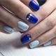 Сине-голубой маникюр: идеи и модные тенденции