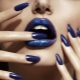 Синий маникюр: специфика дизайна и модные идеи