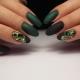 Темно-зеленый маникюр: особенности и варианты оформления