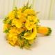 Желтый букет невесты: выбор цветов и их сочетания