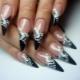 Черные наращенные ногти: техника исполнения и варианты дизайна