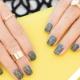 Дизайн ногтей с помощью серого геля-лака
