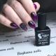 Идеи для дизайна ногтей фиолетовым гелем-лаком