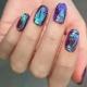 Особенности и способы создания дизайна ногтей «битое стекло» гель-лаком