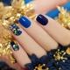 Синий маникюр: стильные идеи и секреты декора