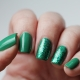Зеленый гель-лак: возможные сочетания и варианты дизайна
