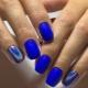 Идеи синего маникюра для коротких ногтей