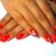 Наращенные ногти в красном цвете