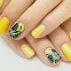 Особенности желтого маникюра на коротких ногтях